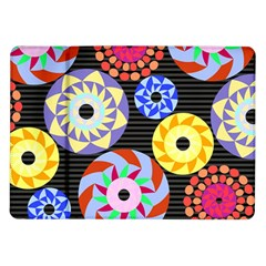 Colorful Retro Circular Pattern Samsung Galaxy Tab 10 1  P7500 Flip Case by DanaeStudio