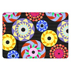 Colorful Retro Circular Pattern Samsung Galaxy Tab 8 9  P7300 Flip Case by DanaeStudio