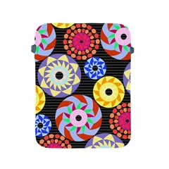 Colorful Retro Circular Pattern Apple Ipad 2/3/4 Protective Soft Cases by DanaeStudio