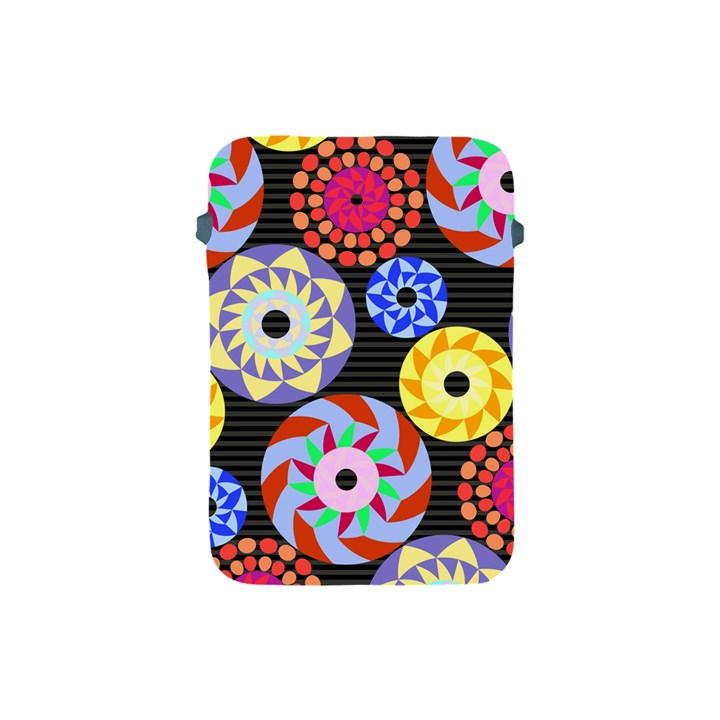 Colorful Retro Circular Pattern Apple iPad Mini Protective Soft Cases
