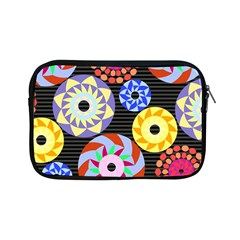 Colorful Retro Circular Pattern Apple Ipad Mini Zipper Cases by DanaeStudio
