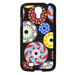 Colorful Retro Circular Pattern Samsung Galaxy S4 I9500/ I9505 Case (Black)