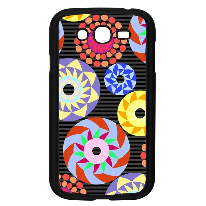 Colorful Retro Circular Pattern Samsung Galaxy Grand DUOS I9082 Case (Black)
