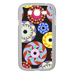Colorful Retro Circular Pattern Samsung Galaxy Grand DUOS I9082 Case (White)