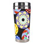 Colorful Retro Circular Pattern Stainless Steel Travel Tumblers