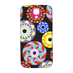 Colorful Retro Circular Pattern Samsung Galaxy S4 I9500/i9505  Hardshell Back Case by DanaeStudio