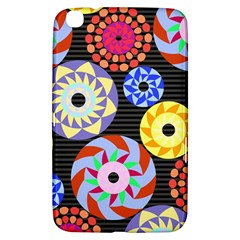 Colorful Retro Circular Pattern Samsung Galaxy Tab 3 (8 ) T3100 Hardshell Case  by DanaeStudio