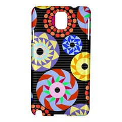 Colorful Retro Circular Pattern Samsung Galaxy Note 3 N9005 Hardshell Case by DanaeStudio