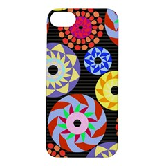 Colorful Retro Circular Pattern Apple Iphone 5s/ Se Hardshell Case by DanaeStudio