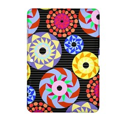 Colorful Retro Circular Pattern Samsung Galaxy Tab 2 (10 1 ) P5100 Hardshell Case  by DanaeStudio