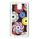 Colorful Retro Circular Pattern Samsung Galaxy Note 3 N9005 Case (White)
