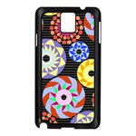 Colorful Retro Circular Pattern Samsung Galaxy Note 3 N9005 Case (Black)