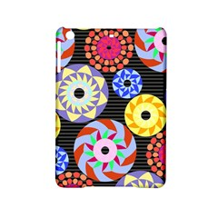 Colorful Retro Circular Pattern Ipad Mini 2 Hardshell Cases by DanaeStudio