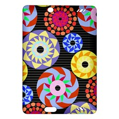 Colorful Retro Circular Pattern Amazon Kindle Fire Hd (2013) Hardshell Case by DanaeStudio