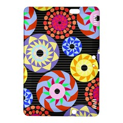 Colorful Retro Circular Pattern Kindle Fire Hdx 8 9  Hardshell Case by DanaeStudio