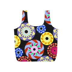 Colorful Retro Circular Pattern Full Print Recycle Bags (s)  by DanaeStudio