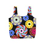 Colorful Retro Circular Pattern Full Print Recycle Bags (S)