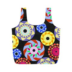 Colorful Retro Circular Pattern Full Print Recycle Bags (m)  by DanaeStudio