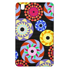 Colorful Retro Circular Pattern Samsung Galaxy Tab Pro 8 4 Hardshell Case by DanaeStudio