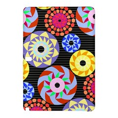Colorful Retro Circular Pattern Samsung Galaxy Tab Pro 12 2 Hardshell Case by DanaeStudio