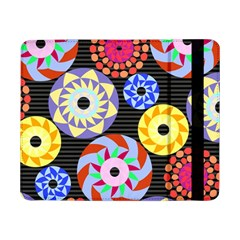 Colorful Retro Circular Pattern Samsung Galaxy Tab Pro 8 4  Flip Case by DanaeStudio