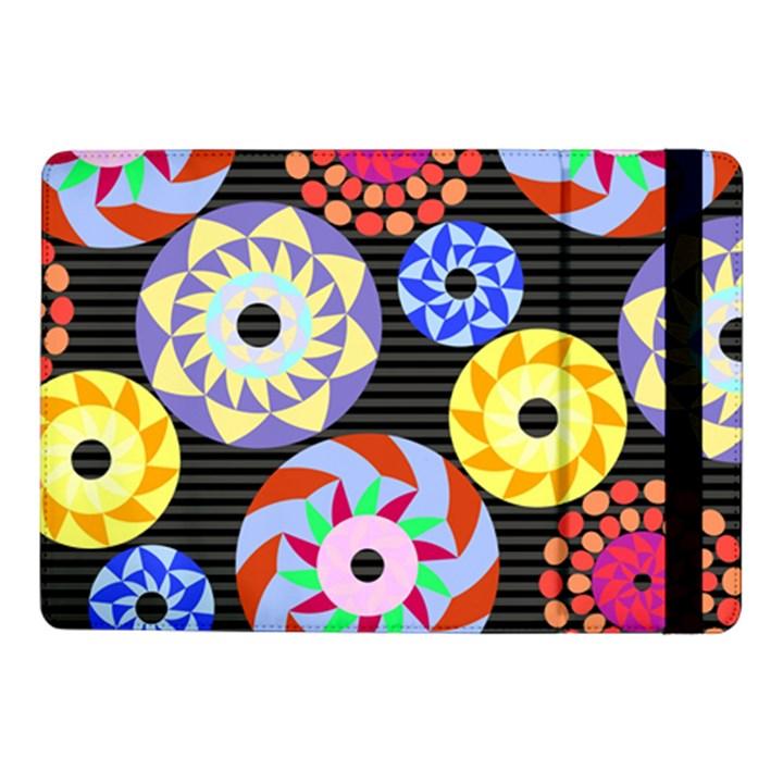 Colorful Retro Circular Pattern Samsung Galaxy Tab Pro 10.1  Flip Case