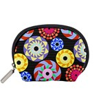 Colorful Retro Circular Pattern Accessory Pouches (Small)