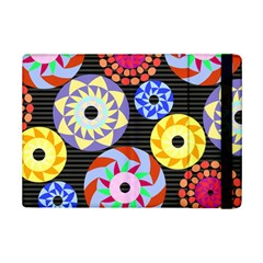 Colorful Retro Circular Pattern Ipad Mini 2 Flip Cases by DanaeStudio