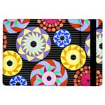 Colorful Retro Circular Pattern iPad Air Flip