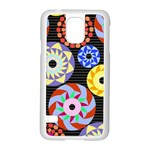 Colorful Retro Circular Pattern Samsung Galaxy S5 Case (White)