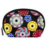 Colorful Retro Circular Pattern Accessory Pouches (Large)