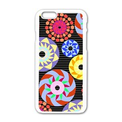 Colorful Retro Circular Pattern Apple Iphone 6/6s White Enamel Case