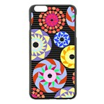 Colorful Retro Circular Pattern Apple iPhone 6 Plus/6S Plus Black Enamel Case