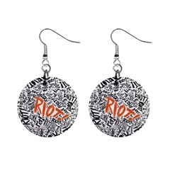 Paramore Is An American Rock Band Mini Button Earrings by Onesevenart