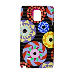 Colorful Retro Circular Pattern Samsung Galaxy Note 4 Hardshell Case by DanaeStudio