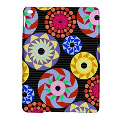 Colorful Retro Circular Pattern Ipad Air 2 Hardshell Cases by DanaeStudio