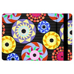 Colorful Retro Circular Pattern Ipad Air 2 Flip by DanaeStudio