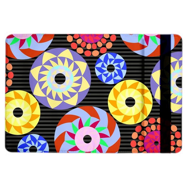 Colorful Retro Circular Pattern iPad Air 2 Flip