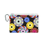 Colorful Retro Circular Pattern Canvas Cosmetic Bag (S)