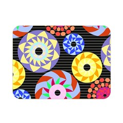 Colorful Retro Circular Pattern Double Sided Flano Blanket (mini)  by DanaeStudio