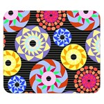 Colorful Retro Circular Pattern Double Sided Flano Blanket (Small)  50 x40 Blanket Front