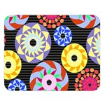 Colorful Retro Circular Pattern Double Sided Flano Blanket (Large)   Blanket Back