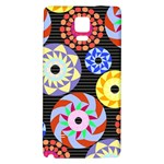 Colorful Retro Circular Pattern Galaxy Note 4 Back Case