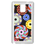 Colorful Retro Circular Pattern Samsung Galaxy Note 4 Case (White)