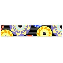 Colorful Retro Circular Pattern Flano Scarf (large)  by DanaeStudio