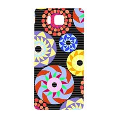 Colorful Retro Circular Pattern Samsung Galaxy Alpha Hardshell Back Case
