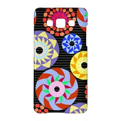 Colorful Retro Circular Pattern Samsung Galaxy A5 Hardshell Case  by DanaeStudio