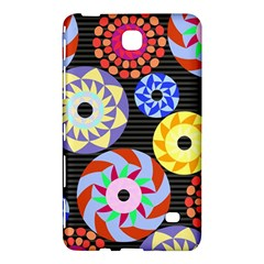Colorful Retro Circular Pattern Samsung Galaxy Tab 4 (8 ) Hardshell Case  by DanaeStudio