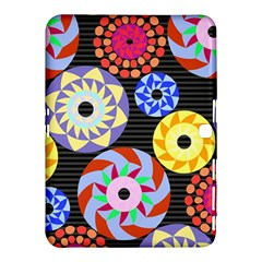 Colorful Retro Circular Pattern Samsung Galaxy Tab 4 (10 1 ) Hardshell Case  by DanaeStudio
