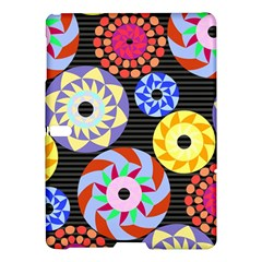 Colorful Retro Circular Pattern Samsung Galaxy Tab S (10 5 ) Hardshell Case  by DanaeStudio